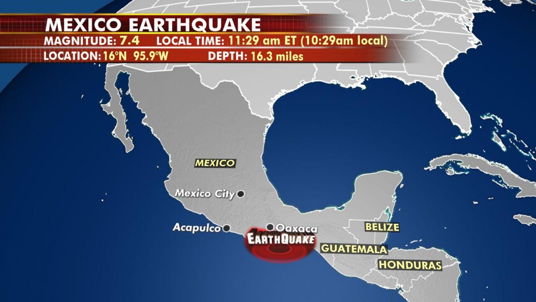 Gempa Melanda Meksiko Selatan