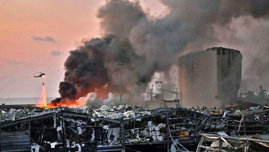 Ledakan di Beirut Lebanon 70 orang tewas