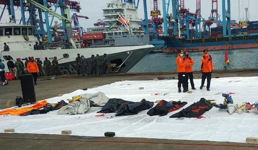 16 Kantong Jenazah Korban Sriwijaya Air SJ182 Diterima RS Polri