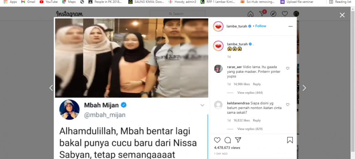 viral video Nissa Sabyan elus-elus perut