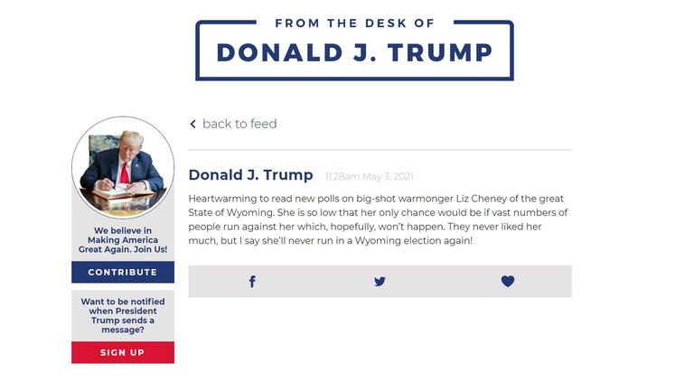 Situs Baru Donald Trump